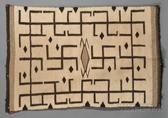 Navajo Whirling Log Textile, сirca first guarter 20 century