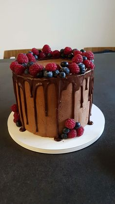 Forest fruit drip cake