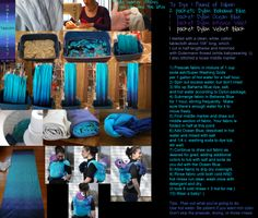 Egg and Twig: Two Fun & Cheap Babywearing DIY Projects - Ombre dyed tablecloth turned baby carrier