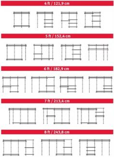 Different configurations for your Rubbermaid Closet Organizer