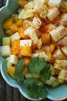 mango, jicama, and cucumber salad