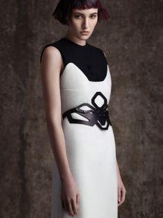 Shaped edge corset
