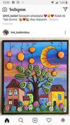 Acrylic Painting For Kids, Pebble Art, Stone Art, Rock Art, Painted Rocks, Diy Crafts, Stone Crafts, Watercolor Paintings, Vestidos