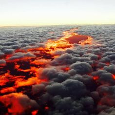 Sunset from above the clouds                              …
