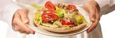 Lunch/Dinner Greek Chicken Sandwich (330 calories/serving) serve with fruit