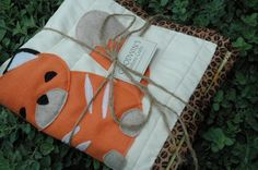 Modern Baby Woodland Critters FOX Quilt by GoodwinsCustomCrafts, $100.00