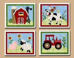 farm nursery decor. farm nursery art. farm room decor. kids farm