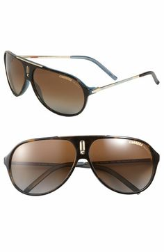Carrera Eyewear 'Hot' 64mm Polarized Aviator Sunglasses available at #Nordstrom