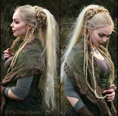 viking braided hairstyle…beautiful ♥ - Home African Hairstyles, Braided Hairstyles, Cool Hairstyles, Fantasy Hairstyles, Witchy Hairstyles, Vikings Hair, Norse Vikings, Medieval Hairstyles, Viking Braids