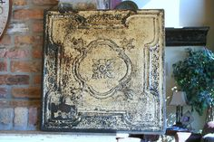 Huge Genuine Antique Ceiling Tin Wall Art by VINTAGEHOMEACCENTS, $79.99