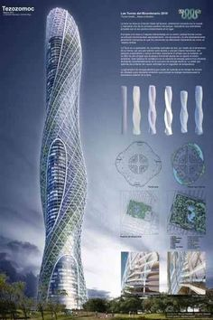 Rotating Skyscrapers is part of architecture - Rotating Skyscrapers Mexico will celebrate 200 years of independence by building two skyscrapers, each shaped like ellipses The towers mimic each other in shape and mo Architecture Paramétrique, Architecture Durable, Futuristic Architecture, Sustainable Architecture, Amazing Architecture, Chinese Architecture, Classical Architecture, Future Buildings, Unique Buildings