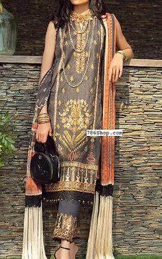 Charcoal Lawn Suit   Buy Rang Rasiya Pakistani Dresses and Clothing online in USA, UK Pakistani Lawn Suits, Pakistani Dresses, Fashion Pants, Fashion Dresses, Rang Rasiya, Suits Online Shopping, Add Sleeves, Buy Rings, Lawn Fabric