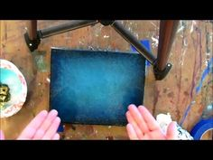 ▶ How to paint a DARK turquoise background - YouTube