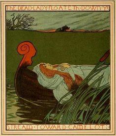 Howard Pyle - The Lady of Shalott  - 1881