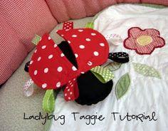 Lady bug taggie tutorial