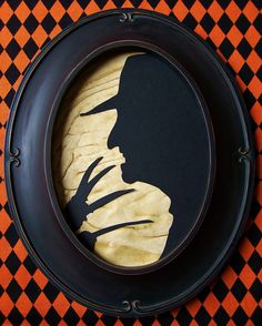 Primitive Halloween Freddy Krueger Framed by RedHedPrims on Etsy, $16.00