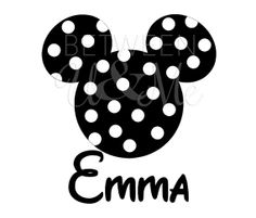 Personalized Polka Dot Minnie Mouse Disney Iron On Decal Vinyl for Shirt via Etsy