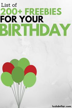 Get a Ton of Free Stuff for Your Birthday in 2019 Birthdays birthday freebies Freebies On Your Birthday, Birthday Deals, Free Birthday, Birthday Stuff, Birthday Rewards, Birthday Places, Birthday Wishlist, 21st Birthday, Birthday Celebration
