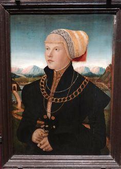 Stadelsches Kunstinstitut, Frankfurt | Conrad Faber von Creuznach (c1500-1552/3) - Portrait of Margarete Stralenberger, nee Stalburg, 1526