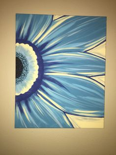 Gerber daisy canvas painting. Paint and sip. Wine and canvas. Www.facebook.com/paintandsipbybrittany Brittany.thetipsyeasel@gmail.com