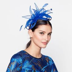 9917a30c42f Star by Julien Macdonald - Blue organza diamante headband. Click on picture  to view up