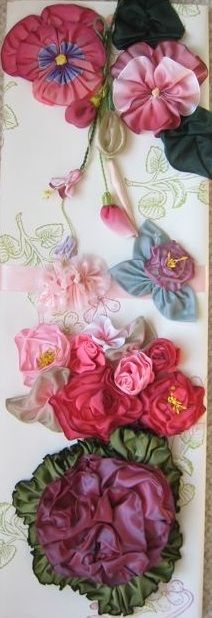 Tricia's Ribbons & Fine Things: Candace Kling Ribbon Flowers Class