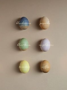 Naturally died ester eggs