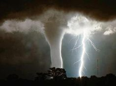 Lightning Strike engaged with the water-pout. | Most Beautiful Pages