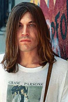 Evan Dando wearing the famous Gram Parsons' tee
