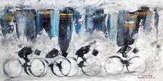 """""""ABBEY ROAD"""" -  opera di Roberto Sironi - acrilico su tela - 30 x 60"""