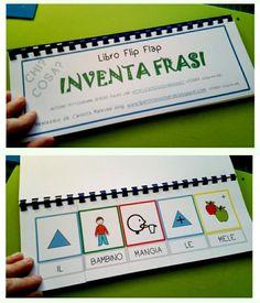 """Eccolo! Il mio primo eserciziario per la lettura globale... IL LIBRO FLIP FLAP """"INVENTA FRASI"""" Ho utilizzato i bellissimi pittogramm..."""