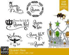Queen Bee / Queen Bee svg / Queen svg / Bee svg / Bees svg / svg files / svg for Cricut / svg for Silhouette / svg bundle