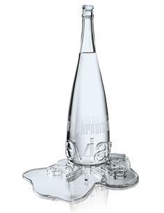 Evian bottle for water.. Designed by Jean Paul Gaultier