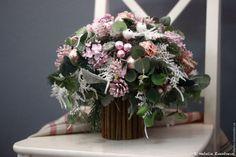 Купить Зимний розовый букет - бледно-розовый, букет, Новый Год, рождество, подарок, Праздник