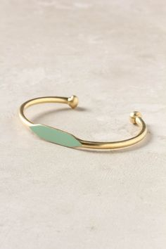 anthropologie pinto cuff in mint
