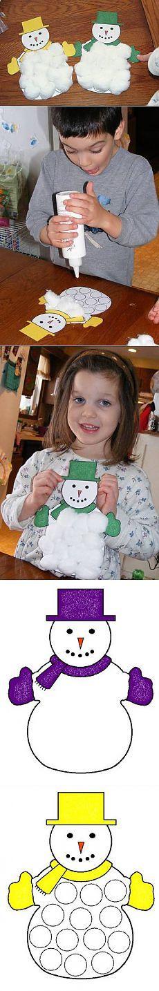 Зимняя поделка снеговик своими руками