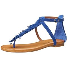 Lucky Women's Wekka Flat Sandal ($36) ❤ liked on Polyvore featuring shoes, sandals, leather flats, flat pumps, leather loafers, fringe wedge sandals and leather moccasins