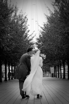 Wedding Photography close by London Eye created by professional Wedding Photographers