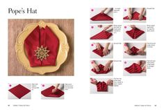 How to fold cloth napkins into the Pope's Hat shape. Dorm Cleaning, Restaurant Jobs, Organised Housewife, Napkin Folding, Table Arrangements, Party Entertainment, Cloth Napkins, Gold Stars, Cover Design