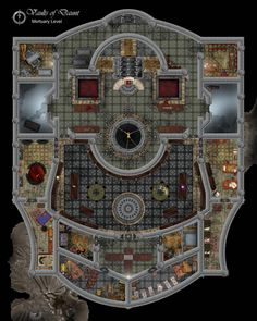 These maps could also double as a wizards mansion. Reminds me of the good old Baldur's gate maps where every blanket felt like it was placed there for a ...