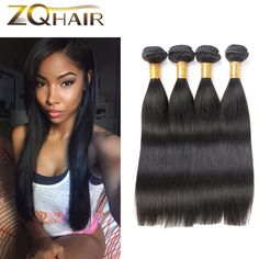 8A Malaysian Virgin Hair Straight 4 Bundles Malaysian Straight Virgin Hair Unprocessed Malaysian Hair Cheap Human Hair Weave