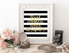 Printable Fashion Quotes Real Women Wear by PapierCouture1 on Etsy