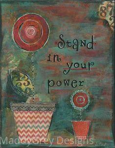 boho gypsy inspirational art empowering art by MaddyGreyDesigns