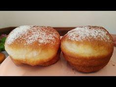 Bakina kuhinja - posne krofne punjene čokoladom (donuts filled with chocolate) - YouTube