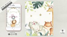 Jungle Animals Baby Announcement Jungle Animals, Baby Animals, Announcement, Bee, Phone Cases, Invitations, Make It Yourself, Baby Pets, Bees