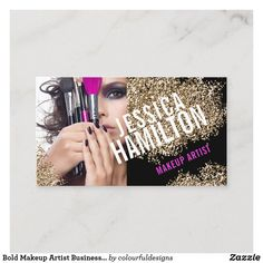 Shop Bold Makeup Artist Business Card Template created by colourfuldesigns. Glitter Eyeshadow, Eyeshadow Brushes, Makeup Artist Business Cards, Wedding Color Schemes, Things To Come, Templates, Stencils, Template, Wedding Color Combinations