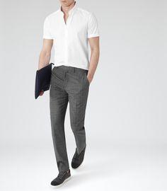 Mens White Short Sleeve Shirt - Reiss Redmayne