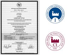 L.A.S. is enrolled in the National Register of the Italian Producers (ITPI) and the brand L.A.S. Laser Art Style is certified 100% Made in Italy, acts according to system  IT01 – 100% Original Italian Quality. #Madeinitaly