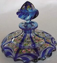 French glass perfume bottle