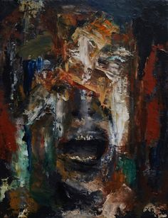 If Only I Could Breathe, painting in Oil on Canvas, by expressionist Alan Derwin.
